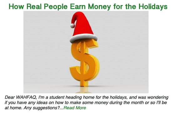 How Real People Earn Extra Money for the Holidays