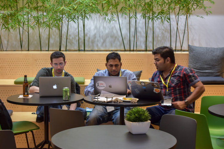 Teams at our Workbot hackthon create custom Slackbots.