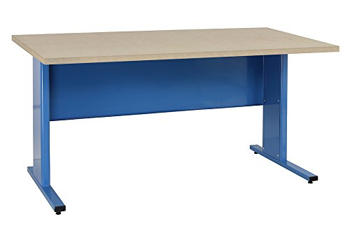 benchpro epb2448 eisenhower garage work table steel frame workbench with particle board top blue frame 24 x 48 1000 lb capacity - Workbench Frame