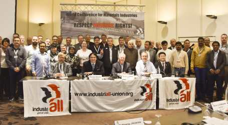 IndustriALL affiliates demand to respect workers' rights in the materials industries