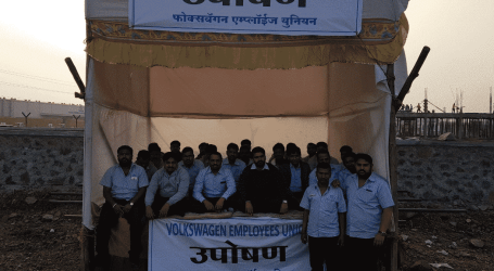 Hunger strike at Volkswagen plant in India