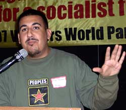 Mike Martinez of Bolivarian Youth<br>in Miami.