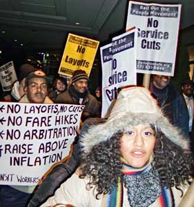 Protest marches into hearingJan. 14,<br>New York.