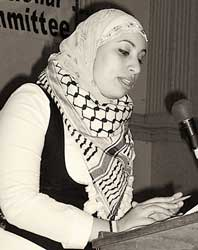 Hanadi Doleh of Al-Awda,<br>The Palestine Right to<br>Return Coalition.
