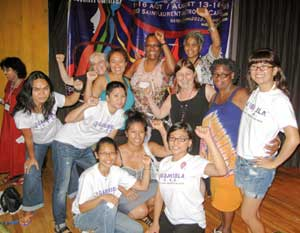Gabriela-USA and Women's Fightback<br>Network members.