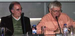 From left, Frederico Carvalho, John Catalinotto..