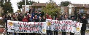 Tenants and supporters demand justice.WW photo: Gloria Rubac