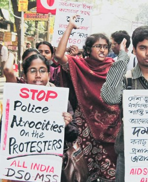 Women lead protests around India.Photo: Samarendra Pratihar