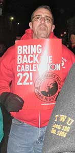 Rally for Cablevision workers, Feb. 6.WW photo: Anne Pruden