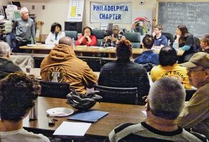 Gathering against privatization, March 11.WW photo: Ben Carroll