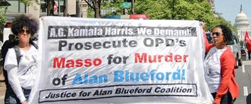 Mollie Costello, left, & Jeralynn Blueford demand justice.