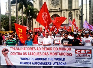 May Day in Sao Paolo, Brazil.