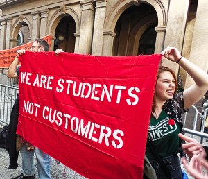 May 15 protest at Cooper Union.WW photo: Anne Pruden