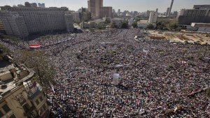 Tahrir Square in Cairo, Egypt.