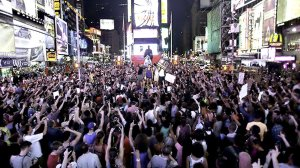 July 14, Times Square, New York City