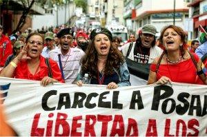 Marching to Cuartel de la Montaña 4F, July 27.Photo: Verónica Canino