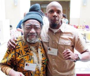 Poet Askia Toure and Lamont Lilly.WW photo: Dante Strobino