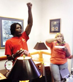 Occupying Thom Tillis's office.