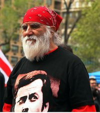 Victor Toro at May Day rally, Union Square, NYC.WW photo: G. Dunkel