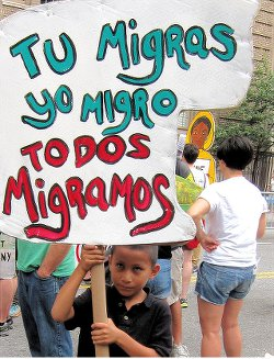 Solidarity with immigrants. WW photo: G. Dunkel