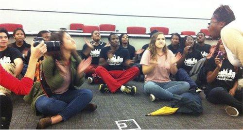 Youth shut down anti-union film.Photo: Philadelphia Student Union