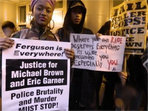 Demanding justice for Akai Gurley, Dec. 6.WW photo: Anne Pruden