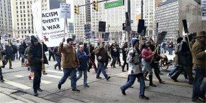 Detroiters march on MLK Day, Jan. 19.WW photo: Tachae Davis