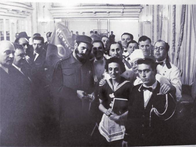 Fidel Castro with Hotel Theresa workers