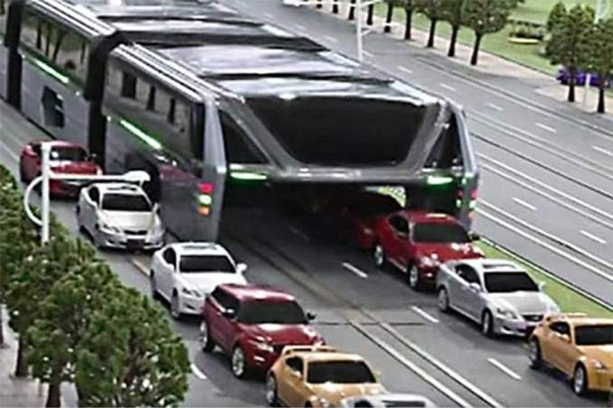 China's Elevated Transit Bus