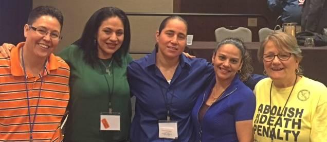 San Antonio Four with Gloria Rubac (right), April 2016.