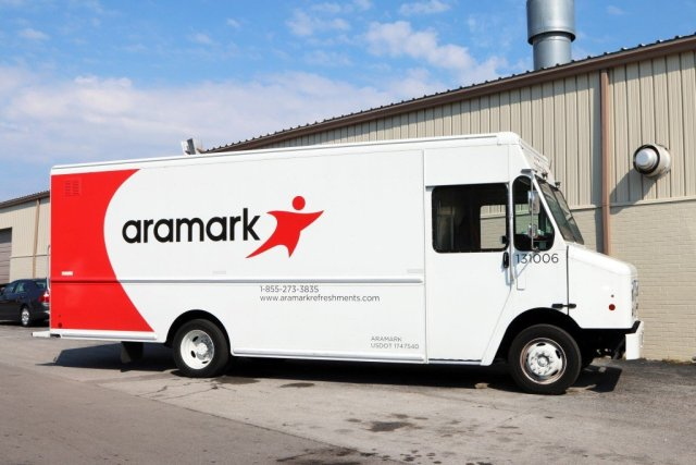 Aramark's contract was terminated early over complaints that food was rotten, maggot infested and in contact with rodents.