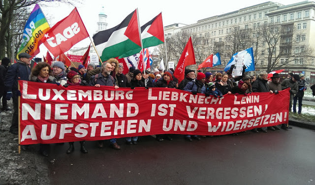 Demonstration commemorating the murdered revolutionaries, Berlin, January 10. Photo: Po-Ming Cheung