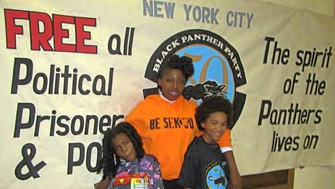 A new generation of freedom fighters at the Black Panther 50th anniversary celebration in Harlem.
