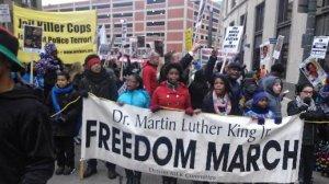 MLK Day march in Detroit on Jan. 19.WW photo: Abayomi Azikiwe