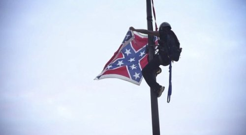 Bree Newsome taking down Confederate flag, June 27.