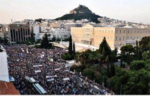 June 29 anti-austerity protest in Athens.