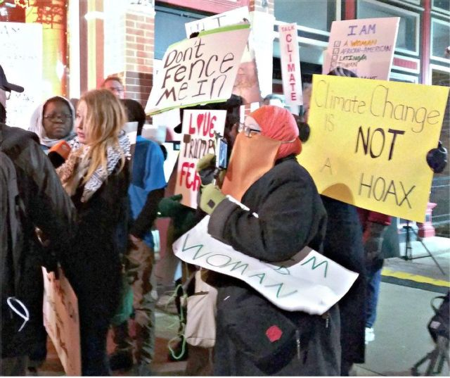 Iowans put out the unwelcome mat for Donald Trump's racism. Photo: Kevin Rutledge