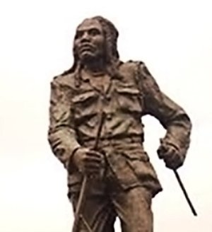 Field Marshal Kimathi 's monument in Nairobi.