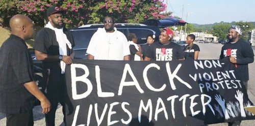 These Birmingham Black Lives Matter activists were arrested protesting Kindra Chapman's death.