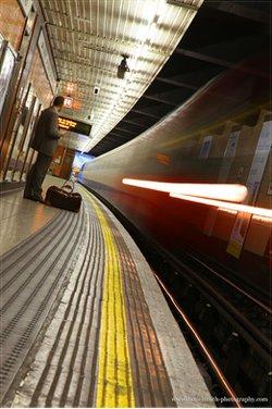 Underground station during strike.
