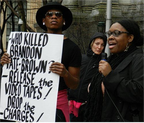 'Philly 10 hold press conference to combat cops' racist propaganda.WW photo: Joseph Piette