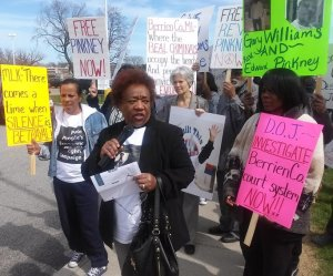 Dorothy Pinkney at April 14 rally in St. Joseph, Mich.WW photo: Ab ayomi Azikiwe