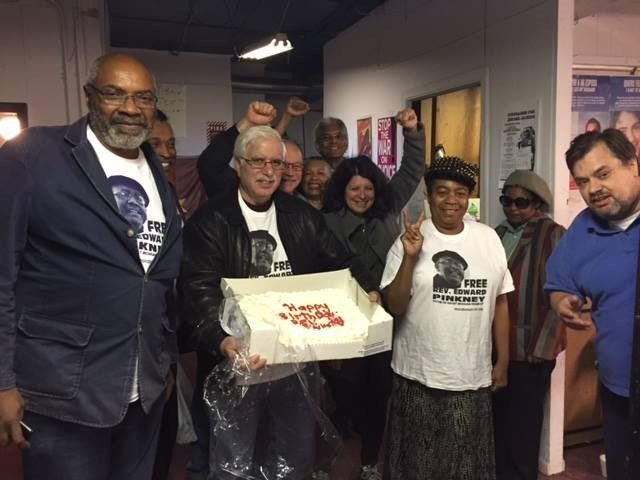 Detroit activists hold birthday party for Rev. Pinkney, Oct. 26.