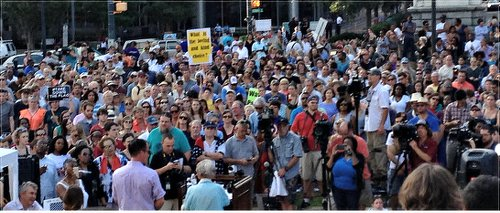 """Take Down the Flag"" rally in Columbia, S.C.WW photo: Bill Starr"