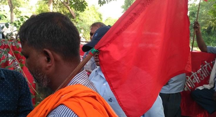 labour protest gurgaon