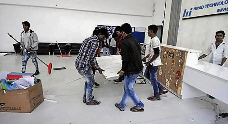 hipad riot noida worker