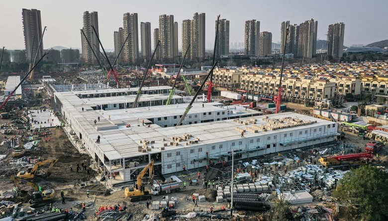 china built hospital in ten days
