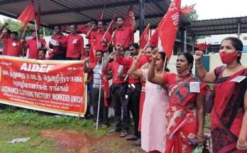 Tamilnadu OCFWU Avadi Comrades demonstrated