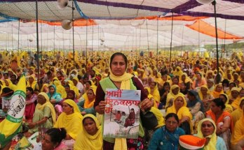 international womens day at Singhu Tikari