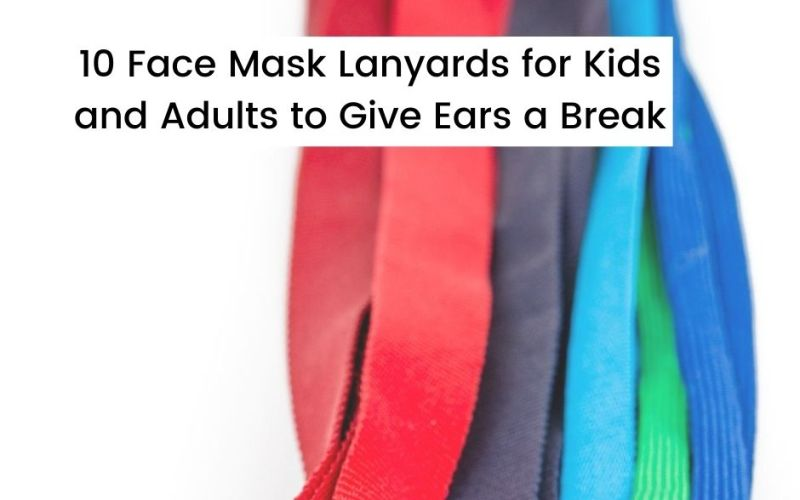 Colorful face mask lanyards